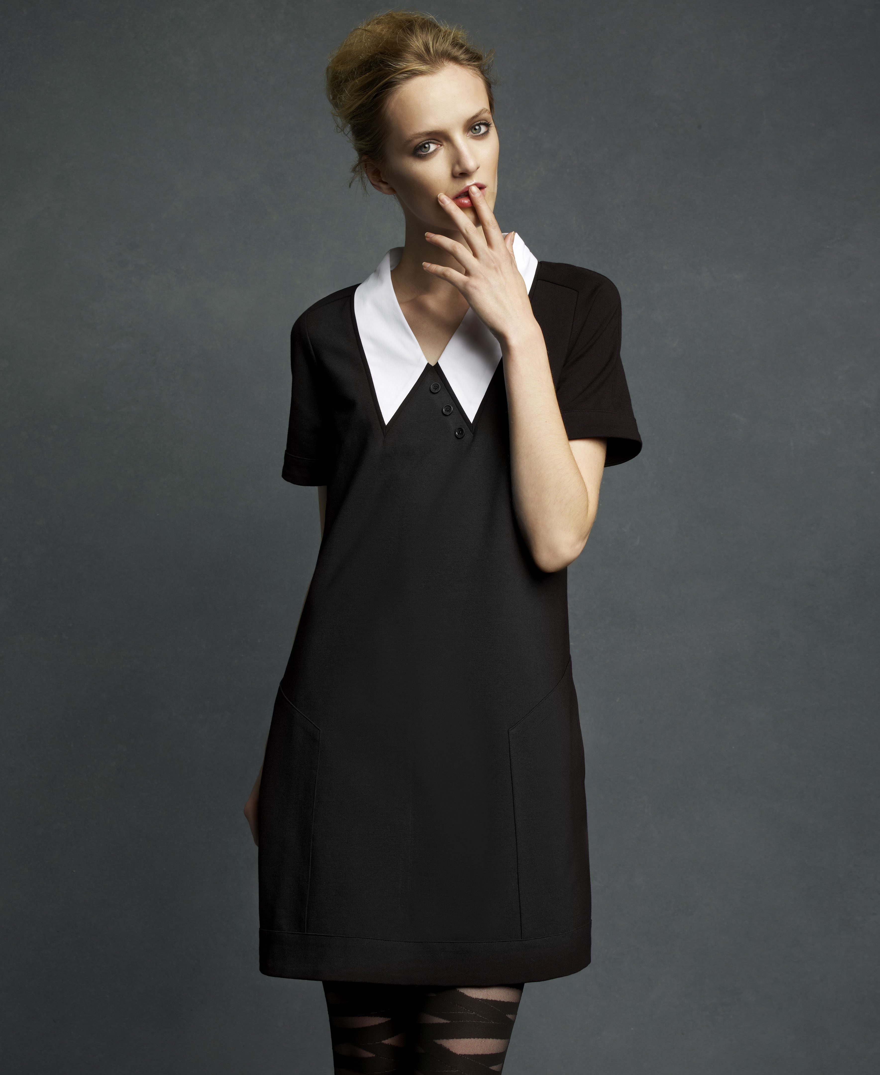 Macy s goes masstige with the karl lagerfeld for impulse for Macy black dress wear to wedding