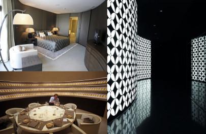 A view of a room in the Armani Hotel in Burj Khalifa in Dubai