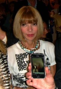 Vogue Editor Anna Wintour at the Stella McCartney Boutique.