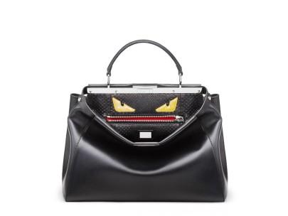 Fendi-Black-Peekaboo-with-Bag-Bug-Interior